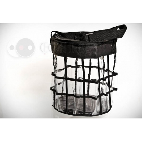 Сумка-корзина прозрачная с крышкой