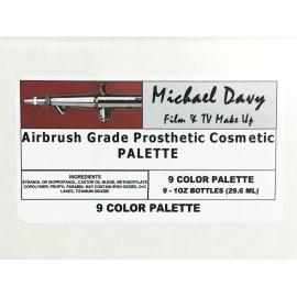 Палитра 9 цв. акриловых красок для аэрографа AGPC